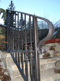 Outside Banister Railings Fine Wrought Iron Stair Railing Latest Door U0026 Stair Design