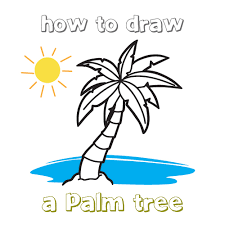 how to draw how to draw a palm tree hellokids com