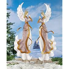 lighted christmas yard angels outdoor christmas decorations angels amazon com