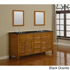 Dual Vanity Sink Direct Vanity 70 Inch Oak Shutter Double Vanity Sink Cabinet