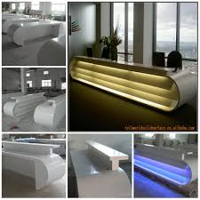 Rounded Reception Desk by High Quality Fancy Artificial Stone White Half Round Reception