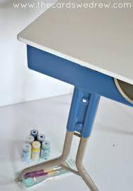 Contact Paper Desk Makeover Vintage Desk Makeover The Cards We Drew