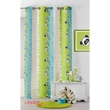 rideaux pour chambre bébé rideau pour enfant à imprimés zèbre multicolore 130 x 260 cm