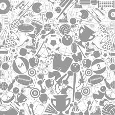 grey background on a theme sports a vector illustration royalty