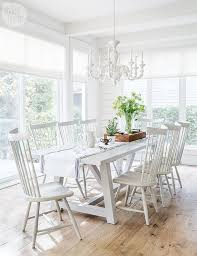 Dining Room Trestle Table White Trestle Dining Table With White Windsor Dining Chairs