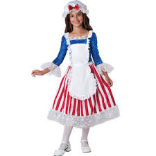 America Halloween Costume Incharacter Betsy Ross Girls Kids 4th July Patriotic America