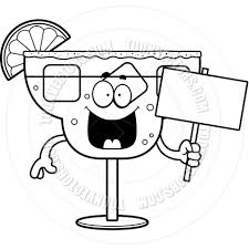 margarita drawing cartoon margarita sign black and white line art by cory thoman