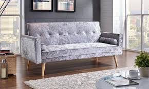 Velvet Sofa Bed Crushed Velvet Sofa Bed Groupon