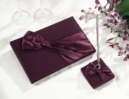 purple wedding guest book clearance plum wedding guest book pen set pen sets books