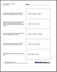 free multiplication word problems free printable introductory word problem worksheets for addition