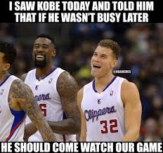 Blake Griffin Meme - nba memes on twitter blake griffin s conversation with kobe bryant