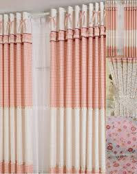 room darkening plaid print beige window curtains sale
