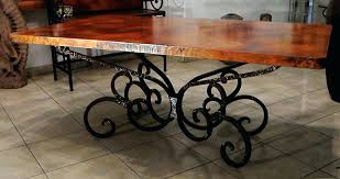 wood and iron dining room table iron dining table base cast pedestal black metal 23 bmorebiostat com