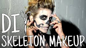 How To Make A Skeleton Costume For Halloween by Diwhynot Diy Stylish Skeleton Makeup Youtube
