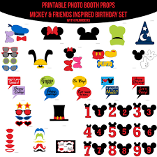 Mickey Mouse Photo Booth Instant Download Mickey Mouse Printable Photo Booth Props Www