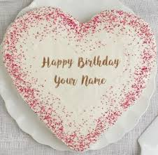 heart shaped name birthday wishes cakes pictures