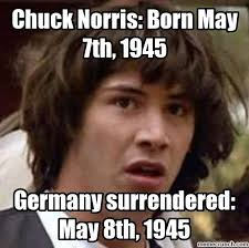Chuck Norris Birthday Meme - norris born may 7th 1945