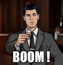 Boom Meme - archer imgflip