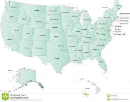 Usa Map With States Names by Usa Map Stock Photos Image 36100513