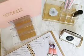 Desk Decor by Jws Interiors Glam Diy Lucite And Gold Desk Accessories With