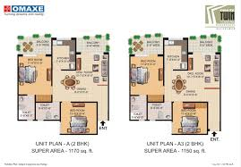 Waterfront Floor Plans by Floor Plans Twin Tower Omaxe Waterfront Allahabad