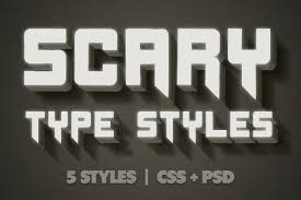 scary css type styles psd web elements creative market