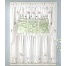 Lorraine Curtains Butterfly Embroidered Kitchen Curtain