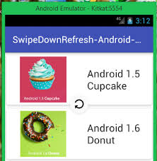 layout android refresh android swipe down to refresh recyclerview exle tutorial