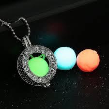 creative atlantis vintage luminous locket necklace glow in