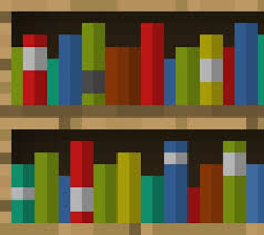 minecraft how to make a bookshelf step by step tutorial youtube