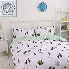 amazon com bulutu cotton cactus print pattern queen comforter