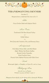 thanksgiving dinner menu template margarita storm facebook