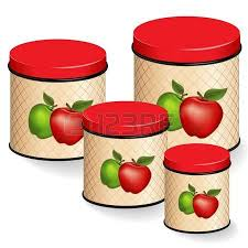 kitchen canister set five multi color food storage containers