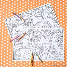 coloring placemats printable kid s easter coloring placemats