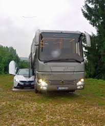 volkner rv this 1 7 million motorhome with its own garage may look like an