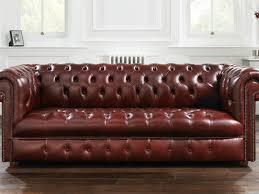 sofa simple tufted leather chesterfield sofa decor modern on