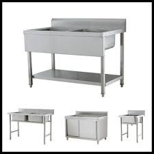 Stainless Kitchen Work Table by Large Size Kitchen Stainless Steel Work Table With Washing Hand
