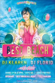 party flyer free best beach party flyer free psd template by klarensm on deviantart