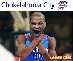 Oklahoma State Memes - chokelahoma city thunder lakersgifs animated laker gifs laker