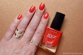 review of avon magic effects neon nail polishes orange blaze red
