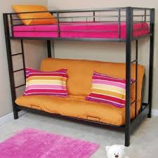 Bunk Bed With Futon On Bottom Walker Edison Btofbl Sunset Metal Twin Over Futon Bunk Bed Frame