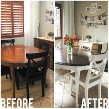 Painting Dining Room Table Refinishing Dining Room Table Refinished Oak Table Brown