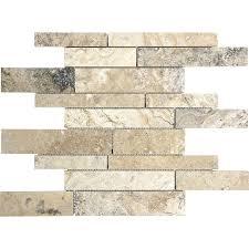 anatolia tile pablo travertine linear mosaic travertine wall tile