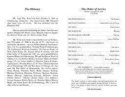 template obituary template