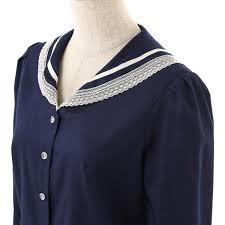 sailor blouse excentrique 16sp lace sailor blouse navy