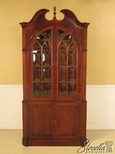 Ethan Allen Corner Cabinet by Ethan Allen Mahogany Furniture Ebay