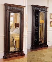 White Jewelry Armoire Mirror Decorating Beautiful Wooden Standing Mirror Jewelry Armoire In