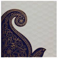 wedding card design india indian wedding card in and golden with blue paisley design