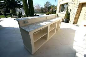 meuble cuisine exterieure bois cuisine exterieure beton design de maison