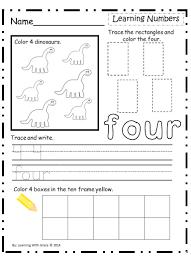 worksheet numbers worksheets kindergarten learning for tracing